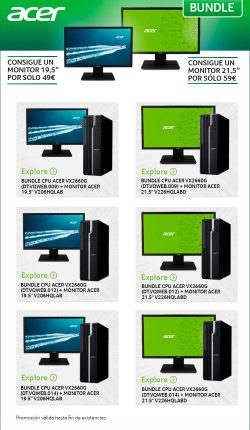 oferta en monitores acer