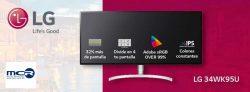 Monitor LG ultrapanorámico de 34 pulgadas