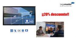 20% descuento en pantallas legamaster