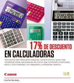 descuento especial en calculadoras Canon