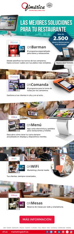 Distribuye software de Hosteleria