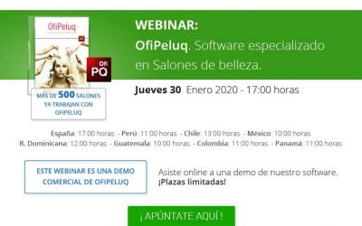 Webinar Ofipeluq, software especializado en salones de belleza