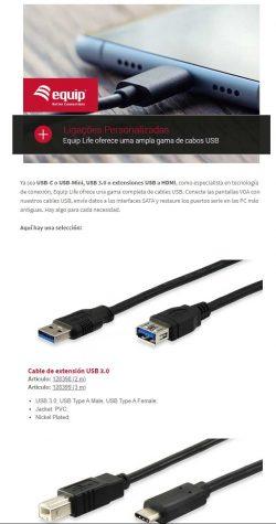 Cables personalizados con Equip Life