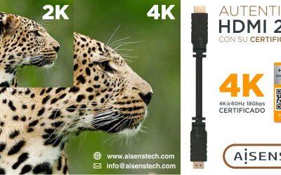 Nuevos cables HDMI 2.0 Certificados