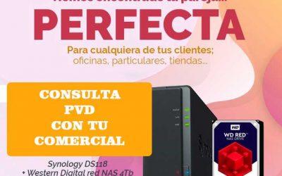 Synology DS118 y WD RED NAS 4TB al mejor precio en Hispamicro