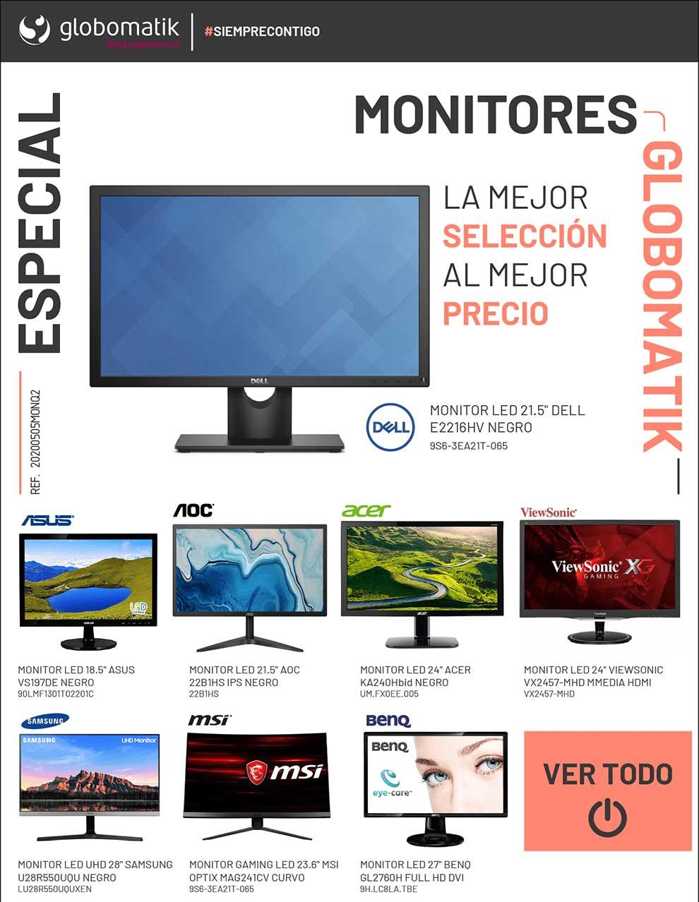 descuento monitores en Globomatik