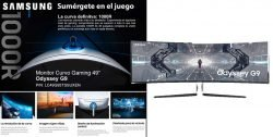 novedad samsung monitor curvo gaming