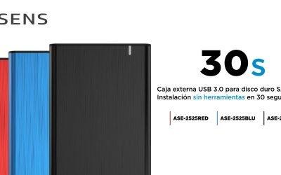 Cajas externas SSD con montaje instantáneo