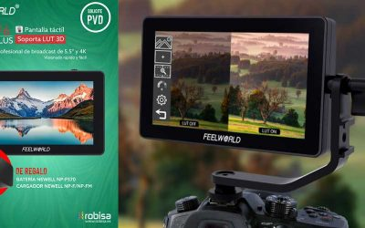 FeelWorld F6 Plus, pantalla táctil broadcast